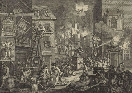 Hogarth, William. The Times (Plate I). Fine Art Print/Poster. Sizes: A4/A3/A2/A1 (003204)